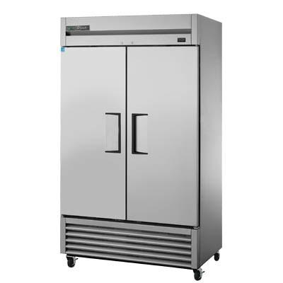 "True T-43F-HC 47"" Two-Section Reach-In Freezer, 2 Solid Doors, 115v"