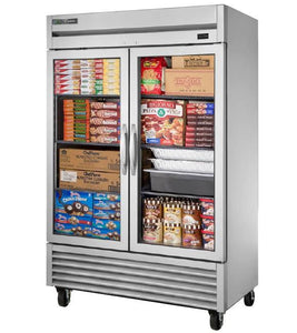 "True T-49FG-HC~FGD01 54"" 2 Glass Door Reach-in Freezer, T-Series, 115v"