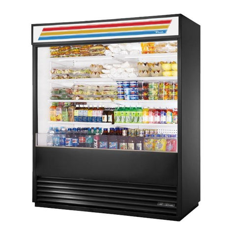 "72"" Vertical Open Display Case Merchandiser, 208-230v"