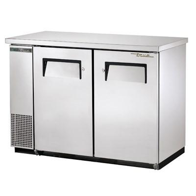 Two-Section Back Bar Refrigerator with (2) Swinging Solid Doors