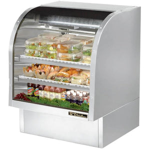 "36"" Full Service Deli Case with Curved Glass - 3 Levels, 115v"