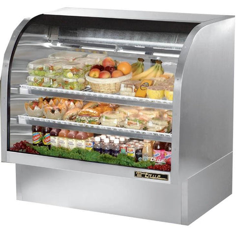 "48"" Full Service Deli Case with Curved Glass - 3 Levels, 115v"