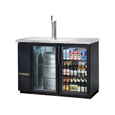 "24"" Direct Draw Beer Dispenser, 1 Keg 1 Tap, 2 Door Back Bar Cooler, LED"