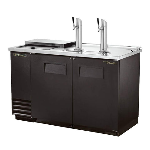 "59"" Draft Beer System with 2 Keg Capacity - 2 Columns, Black, 115v"