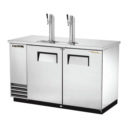 "59"" Draft Beer System with 2 Keg Capacity - 2 Columns, Stainless, 115v"