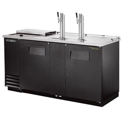 "69"" Draft Beer System with 3 Keg Capacity - 2 Columns, Black"