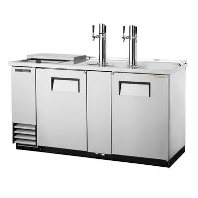 "69"" Draft Beer System with 3 Keg Capacity - 2 Columns, Stainless"