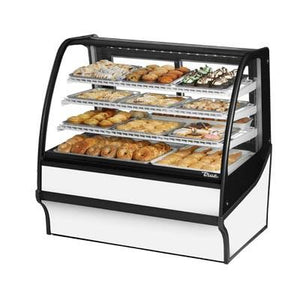 "48.25"" Full-Service Dry Bakery Case with Curved Glass - 4 Levels, 115v"
