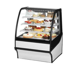 "36.25"" Full-Service Bakery Case with Curved Glass - 4 Levels, 115v"