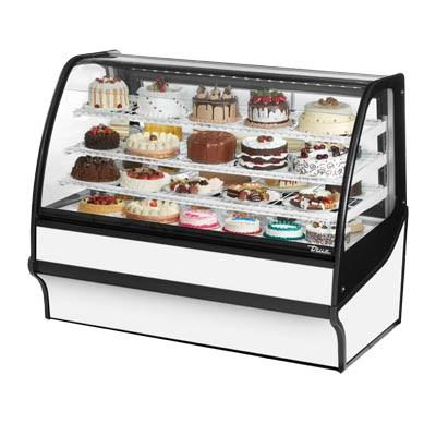 "True TDM-R-59-GE/GE-S-W 59.25"" Full-Service Bakery Case with Curved Glass - 4 Levels, 115v"