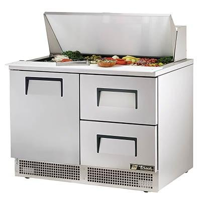 "48"" 2-Section Sandwich/Salad Prep Table with Refrigerated Base, 2 Drawers, 115v"