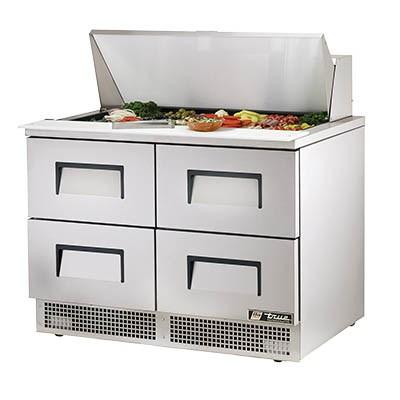 Two-Section Sandwich/Salad Prep Table with (4) Drawers, 115v