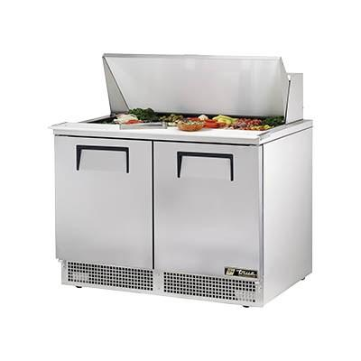 "48"" 2-Section Sandwich/Salad Prep Table with Refrigerated Base, 4 Shelves, 115v"