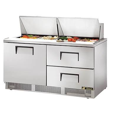 Two-Section Sandwich/Salad Prep Table with 2 Drawers, 115v