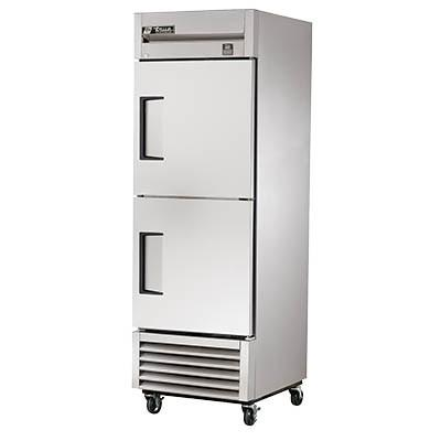 True TS-23-2-HC Refrigerator, Reach-in, One-Section, 2 Stainless Steel Half Doors, Stainless Steel Front/Sides, 115v