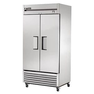 True TS-35-HC Refrigerator, Reach-In, Two-Section, 2 Stainless Steel Doors, Stainless Steel Front/Sides, 115v
