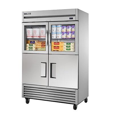 True TS-49-2-G-2-HC~FGD01 Refrigerator, Reach-In, Two-Section, Framed Glass Door Version 01, 115v