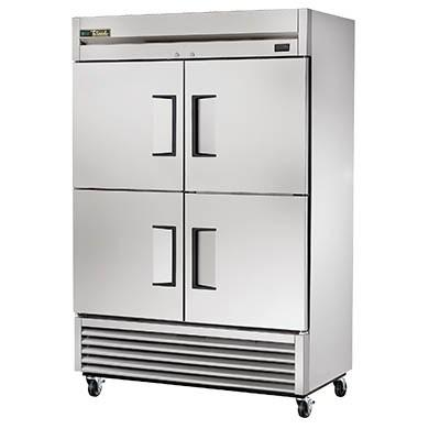 True TS-49-4-HC Refrigerator, Reach-in, Two-Section, 4 Stainless Steel Half Doors, Stainless Steel Front/Sides, 115v