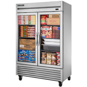 True TS-49FG-HC~FGD01 Freezer, Reach-In, Two-Section, -10°F, Framed Glass Door Version 01, 115v