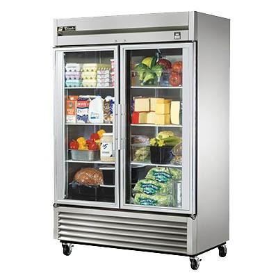 True TS-49G-HC~FGD01 Refrigerator, Reach-in, Two-Section, Framed Glass Door Version 01, 2 Glass Doors, 115v