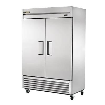 True TS-49-HC Refrigerator, Reach-in, Two-Section, 2 Stainless Steel Doors, Stainless Steel Front/Sides, 115v