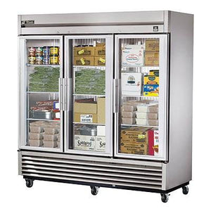 True TS-72FG-HC~FGD01 Freezer, Reach-In, Three-Section, -10°F, Framed Glass Door Version 01, 3 Glass Doors, 115v
