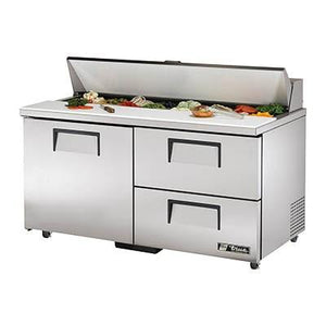 "True TSSU-60-16D-2-ADA-HC 60"" Sandwich/Salad Prep Table with Refrigerated Base, 115v"