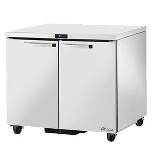 True TUC-36-HC~SPEC3 SPEC SERIES 8.5 Cu Ft Undercounter Refrigerator with 2 Sections & 2 Doors, 4 Shelves, 115v