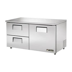True TUC-60D-2-ADA-HC 15.5 Cu Ft Undercounter Refrigerator with 2 Sections, 1 Door & 2 Drawers, 115v