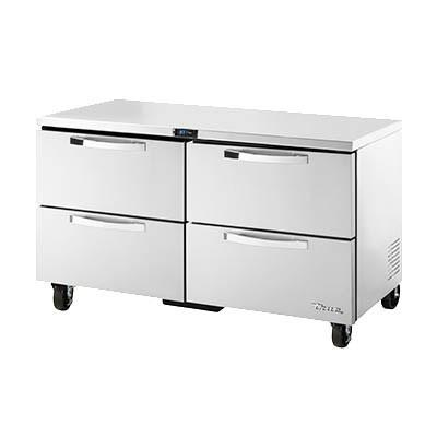 "True TUC-60D-4-HC~SPEC3 SPEC SERIES 15.5 Cu Ft Undercounter Refrigerator with 2 Sections, 4 Drawers & 5"" Castors, 115v"