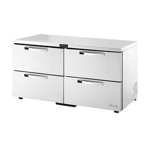 True TUC-60D-4-LP-HC~SPEC3 SPEC SERIES 15.5 Cu Ft Undercounter Refrigerator with 2 Sections & 4 Drawers, 115v