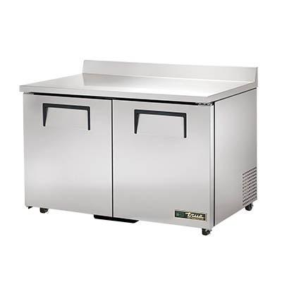 Work Top Refrigerator, Two-Section, Stainless Steel Top with Splash
