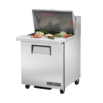 Mega Top Sandwich/Salad Unit, One Section, with Stainless Steel Cover