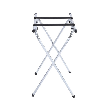"Winco TSY-1A Tray Stand, with bar, 31"", chrome steel"