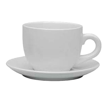 "Crown Brands TW-130SR Update International™ - Saucer, 6-3/8"" dia., for TW-130 Cappuccino cup, ceramic, white"