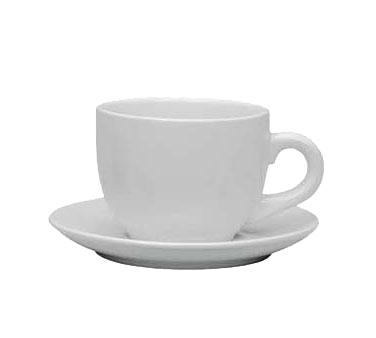 "Crown Brands TW-30SR Update International™ - Saucer, 5"" dia., for TW-30 espresso cup, ceramic, white"