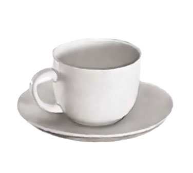 "Crown Brands TW-60SR Update International™ - Saucer, 6"" dia., for TW-60 cappuccino cup, ceramic, white"