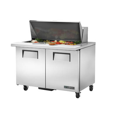 Mega Top Sandwich/Salad Prep Unit, Two Section, with Stainless Steel Cover