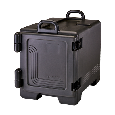 "Cambro UPC300110 Ultra Pan Carrier®, front loading , polyurethane insulation, holds 1/2 & 1/3  & full size pans 2-1/2"" to 8"" deep, approximate capacity 36 qt"