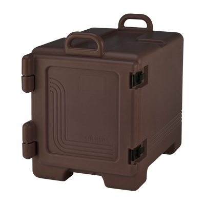 "Cambro UPC300131  Ultra Pan Carrier®, front loading , polyurethane insulation, holds 1/2 & 1/3  & full size pans 2-1/2"" to 8"" deep, approximate capacity 36 qt"