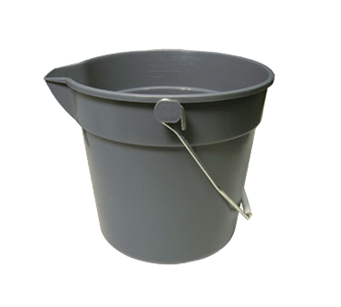 "Crown Brands UPP-10 Update International™ - Utility Pail, 10 quart, 11-1/4"" x 10-1/4"", heavy-duty, gray"