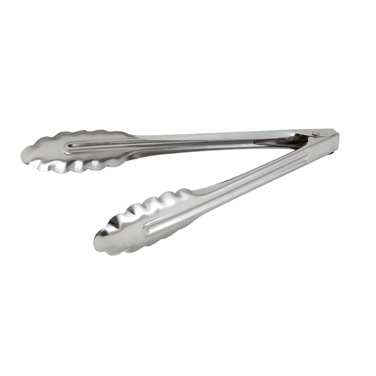 "Winco UT-9LT 9""L Stainless Utility Tongs"