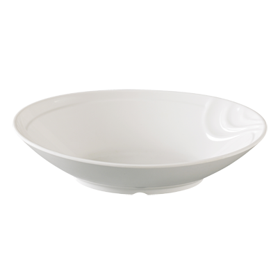 "Yanco VE-611 Venice Bowl, 38 oz., 11""W x 7-1/2""D x 3""H, oval, melamine, white"