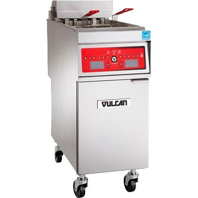 Vulcan 1ER50DF 50 Lb. Electric Floor Fryer with Filtration 480V