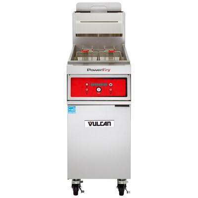 Vulcan 1TR45DF PowerFry3 45-50 Lb. Capacity Gas Fryer with Solid State Filtration System, 70,000 BTU, NSF