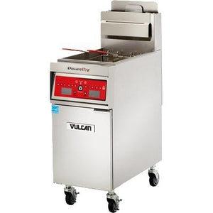 Vulcan 1VK45AF PowerFry5 Gas Fryer 45-50 Lb. Capacity with Solid State Filtration System, 70,000 BTU, NSF