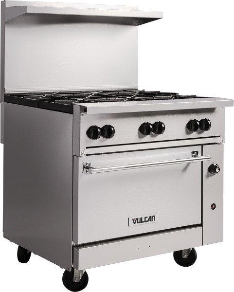 "Vulcan 36S-2B24GT Endurance 36"" 2 Burner Gas Range, 24"" Thermostatic Griddle and Standard Oven"
