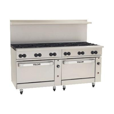 "Vulcan 72CC-12B Endurance 12 Burner 72"" Gas Range with 2 Convection Ovens"