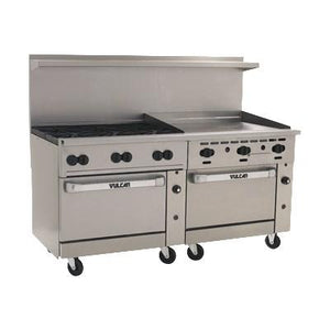 "Vulcan 72CC-6B36GT Endurance 6 Burner 72"" Gas Range with 36"" Thermostatic Griddle and 2 Convection Ovens"