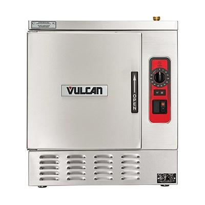 Vulcan C24EA5 PLUS 5 Pan Convection Electric Steamer withTimed Smart Drain & Powerflush- Countertop, 208v/3ph